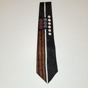 OLD SCHOOL  Necktie Oscar de la Renta Silk Deco